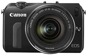 Canon ミラーレス一眼カメラ EOS M レンズキット EF-M18-55mm F3.5-5.6 IS STM付属 ブラック EOSMBK-18-55ISSTMLK