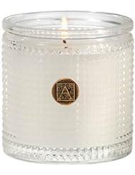Aromatique BourbonベルガモットTexturedガラス香りつきJar Candle