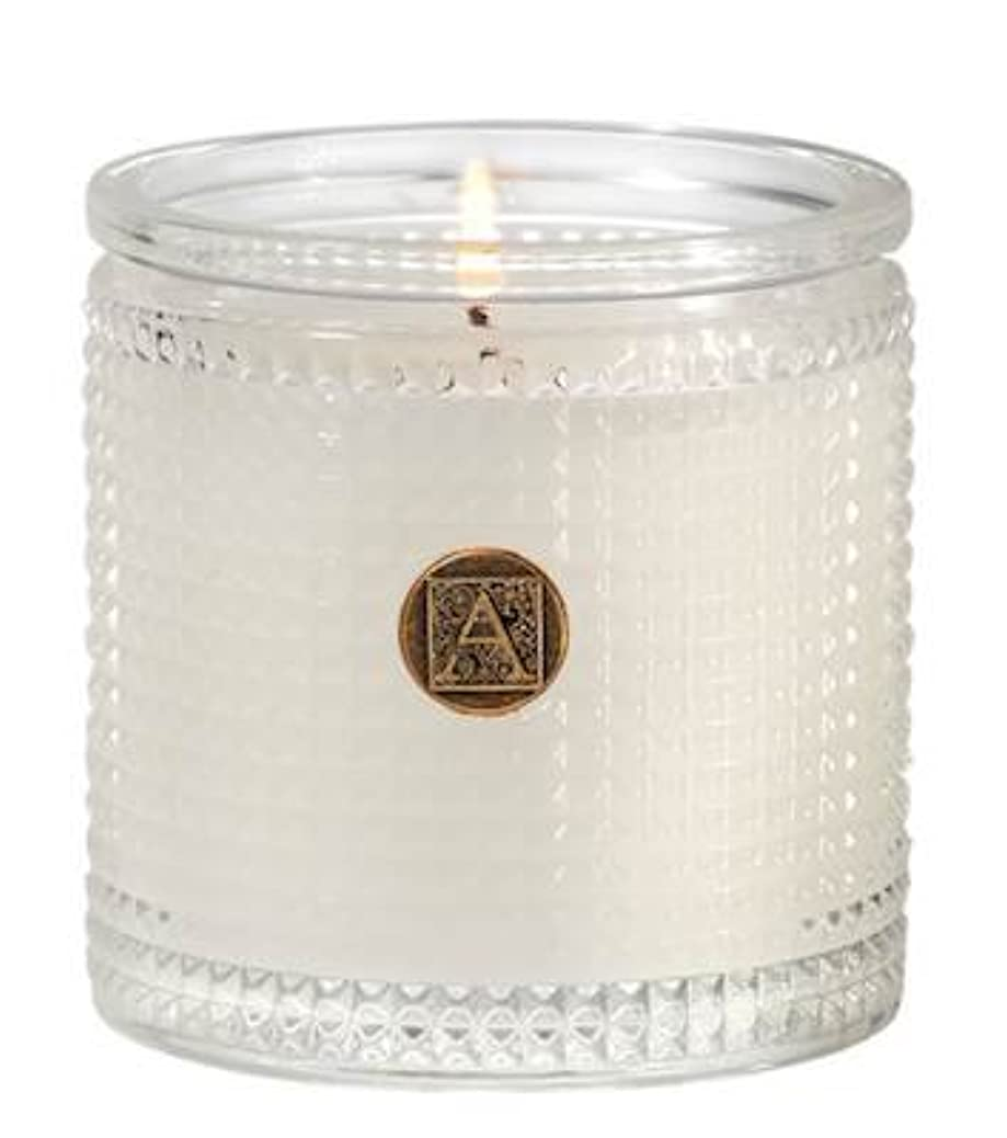 すり減る逆さまに盗難Aromatique BourbonベルガモットTexturedガラス香りつきJar Candle