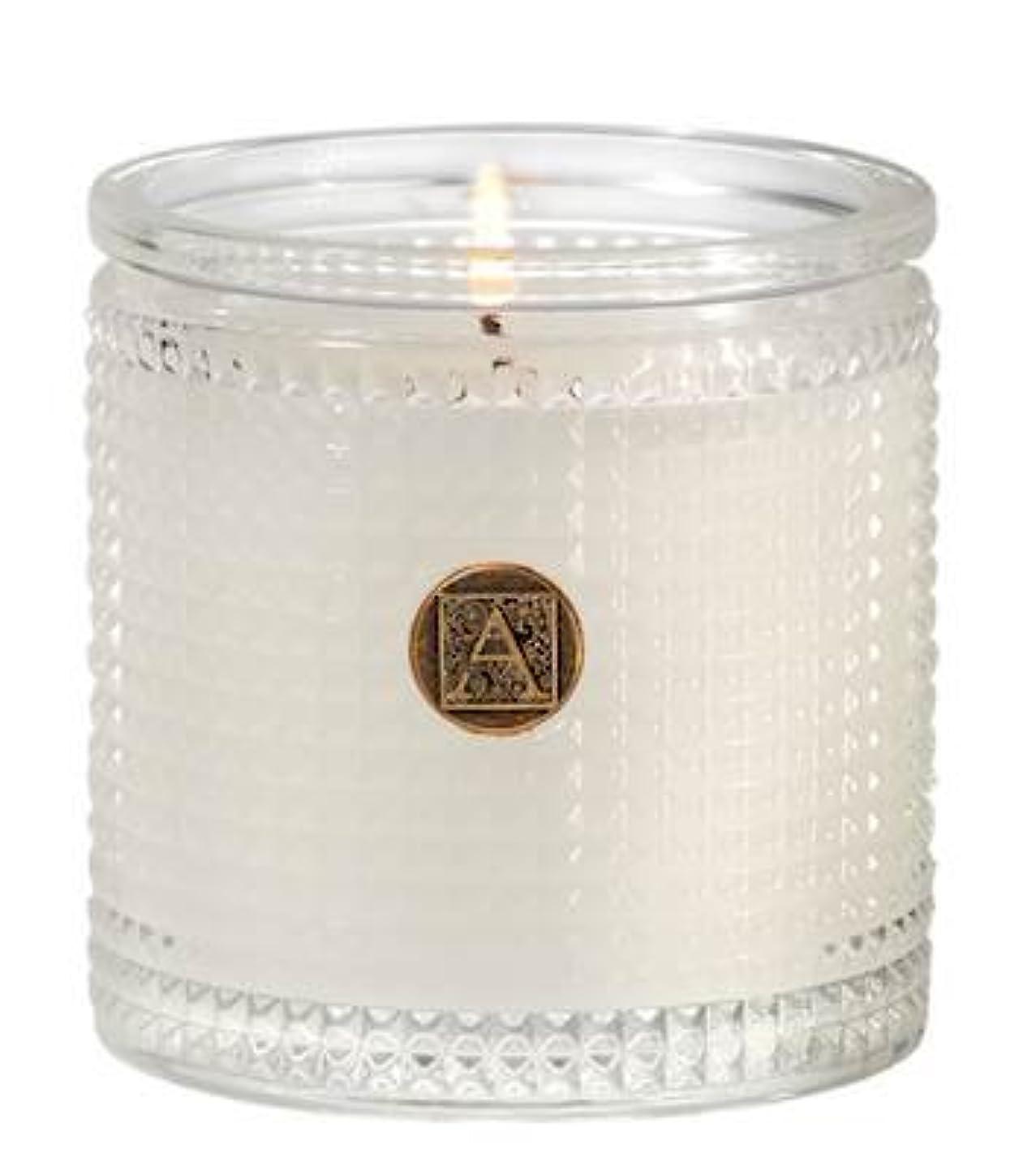 使用法穴下品Aromatique BourbonベルガモットTexturedガラス香りつきJar Candle