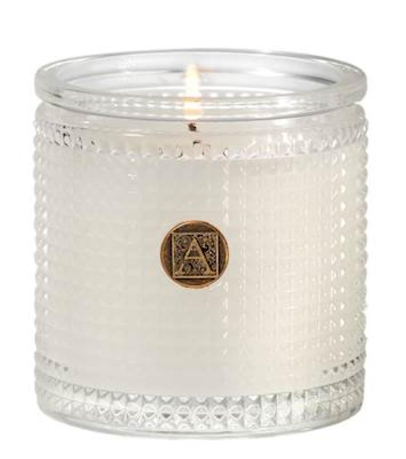ゴム実装する有限Aromatique BourbonベルガモットTexturedガラス香りつきJar Candle