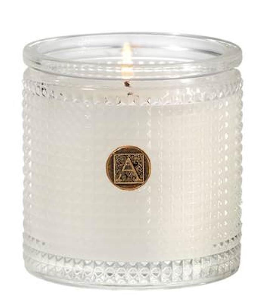 かろうじて太字王朝Aromatique BourbonベルガモットTexturedガラス香りつきJar Candle