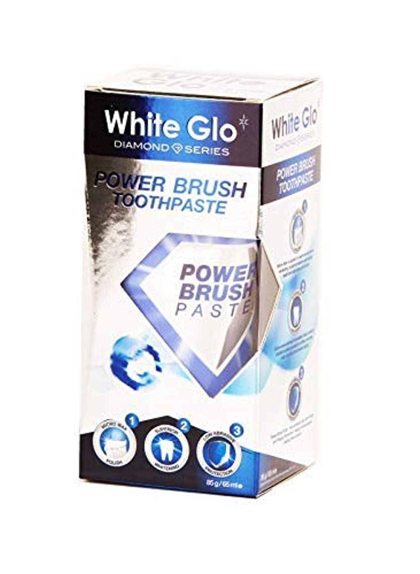 去るミリメートル勇気Teeth Whitening Systems White Glo Electric Powerbrush Whitening Toothpaste 85g Australia / 歯磨き粉85gオーストラリアを白くする...
