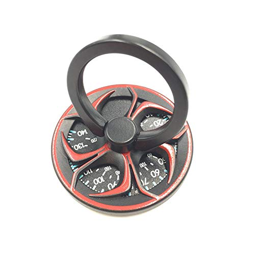 OnKJスマホ リング ハンドスピナー ホールドリング 指リング スタンド機能 落下防止 ストレス解消360回転 (赤)