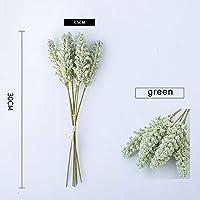 6PCS穀物フラワー人工芝支店フェイク植物ホームデコレーションPPハウス植物盆栽RamasデTrigoのための人工樹木:ライトグリーン