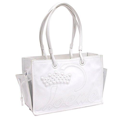 Loewe(ロエベ) トートバッグ ショッパートート 323.93.002 ホワイト レザー 中古 白 ロゴ 革 LOEWE [並行輸入品]
