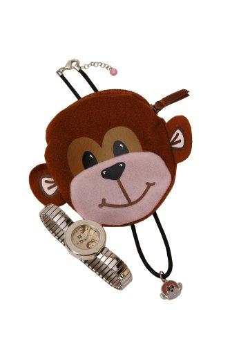 Carvel Monkey Girls Expanderウォッチ、ジュエリー& Purse Set h210
