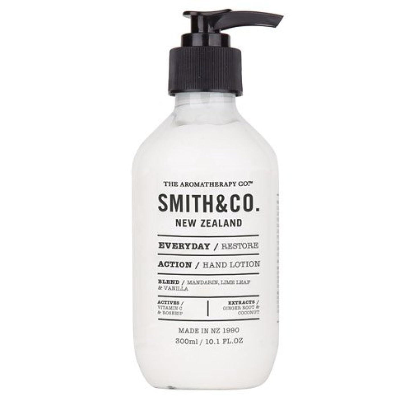 スチュワーデス内向きプリーツSmith&Co. スミスアンドコー Hand&Body Lotion ハンド&ボディローション Restore リストア