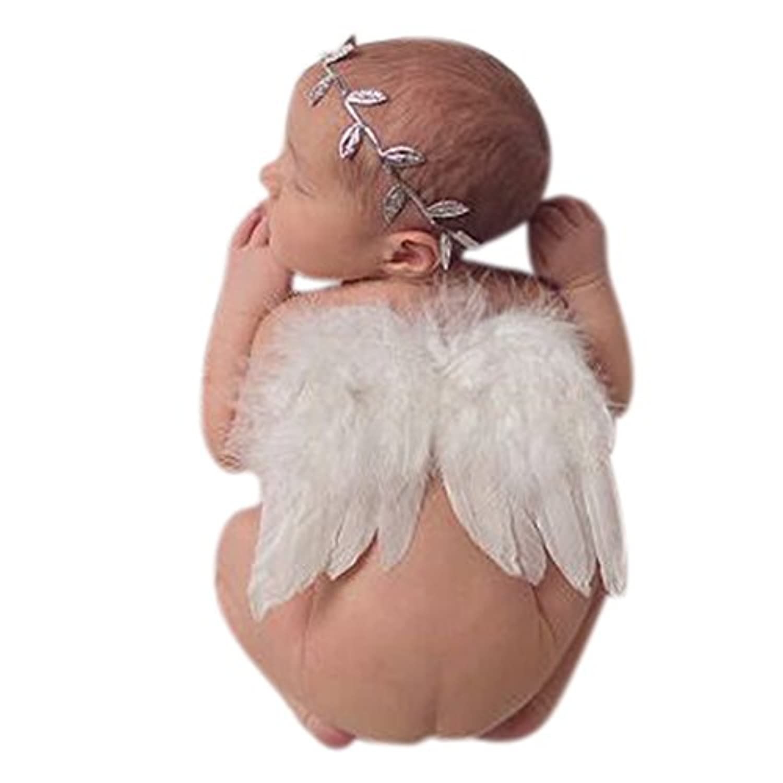 Liebeye 天使の翼 ヘアバンド ベビー 赤ちゃん 子供 かわいい 新生児 写真用 小道具 ヘッドバンド 髪飾り