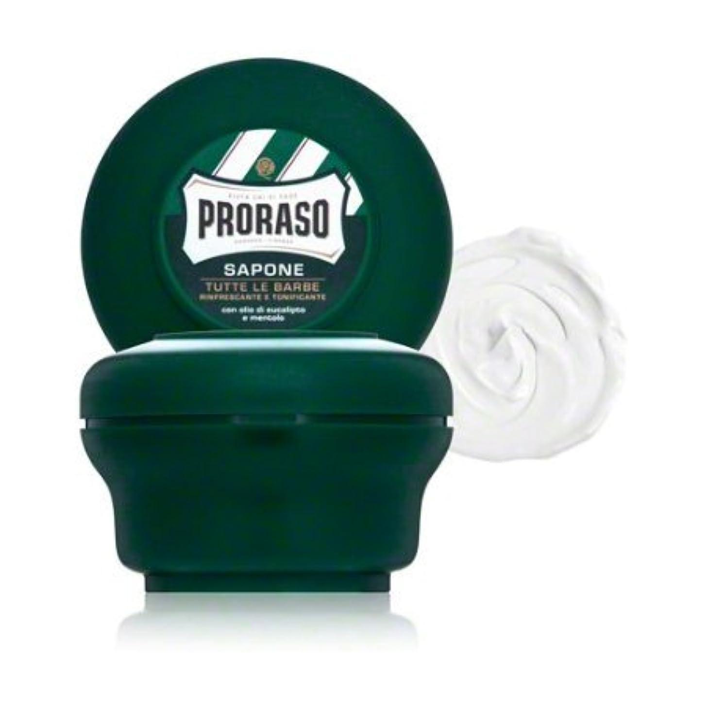 階層作物圧縮されたProraso シェービングソープ ユーカリ&メントール 150ml 並行輸入品