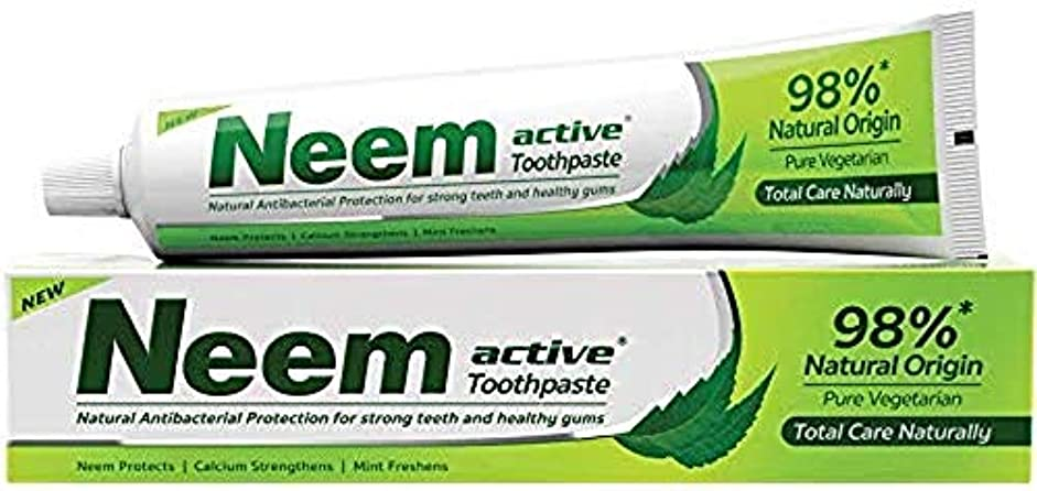 メンダシティ見せます中傷ニーム(Neem) 歯磨き粉 200g