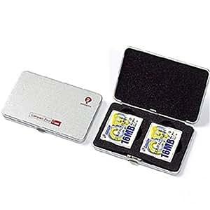 Digio2 コンパクトフラッシュケース(防磁機能に優れたメタル素材)シルバー MCC-202