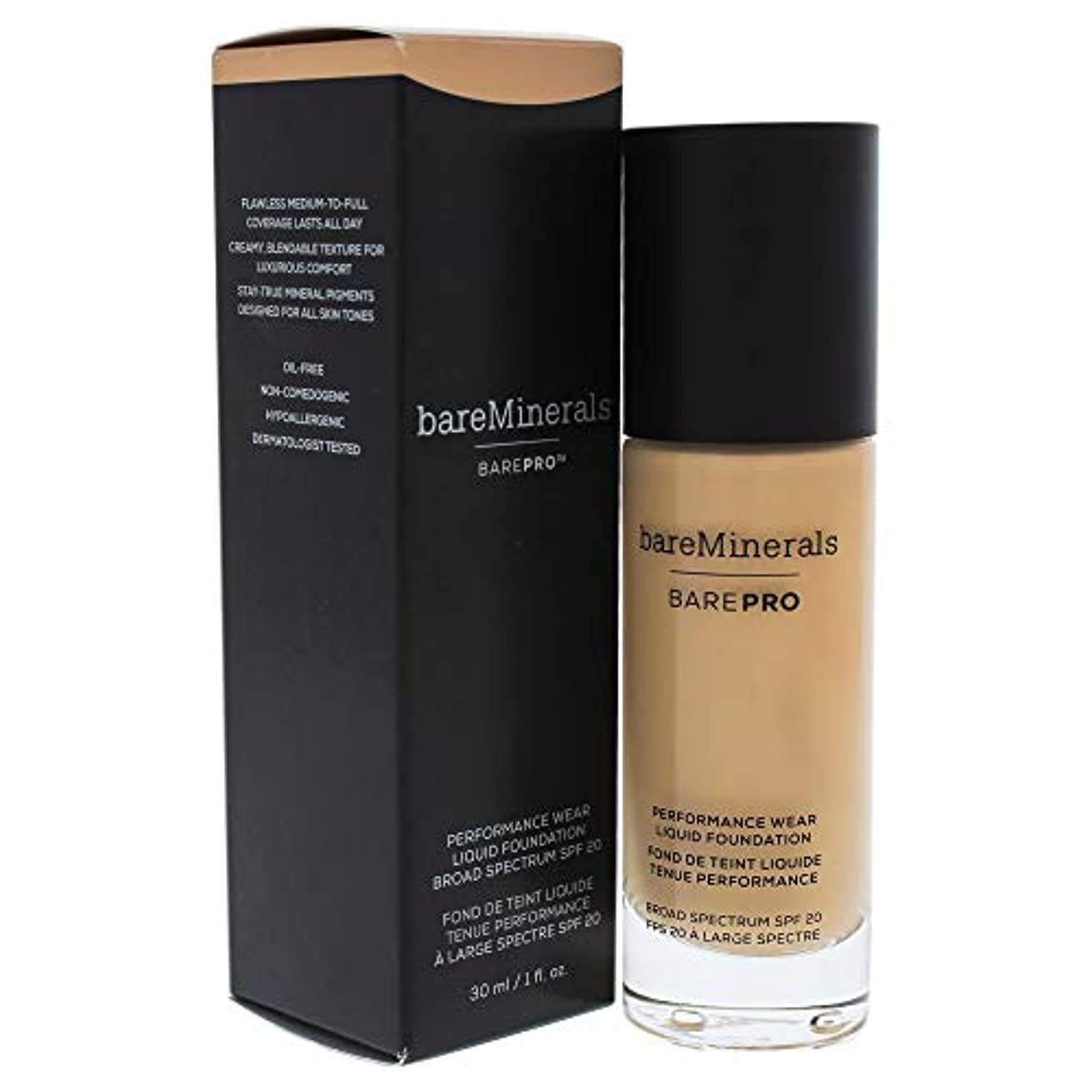 国歌マート靴ベアミネラル BarePro Performance Wear Liquid Foundation SPF20 - # 11 Natural 30ml/1oz並行輸入品