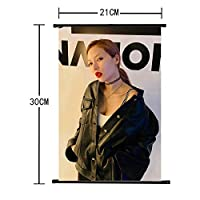 Hosston Kpop Kim Hyun A ポスター Kim Hyun A 壁掛けポスター 壁掛けスクロール布ポスター ファンへのギフトに最適 !@_!(#(17358