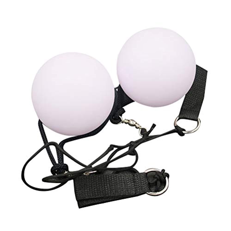 SUPVOX LEDジャグリングボールスピニングLEDライトトーイカラーを変えるベリーダンスレベルハンドプロップ2個(ホワイト)