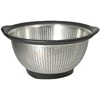 KitchenAid Gourmet 3-Quart Stainless Steel Colander, Black by KitchenAid