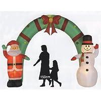 クリスマス エアーディスプレイアーチ サンタ&スノーマン WG-3538
