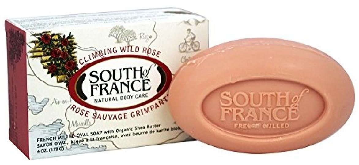 件名出口徴収South of France - 野生のローズに上るフランスの製粉された野菜棒石鹸 - 6ポンド