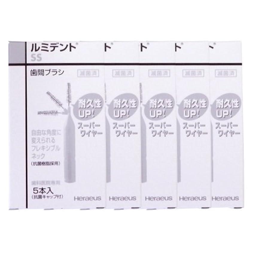 対立レルム国籍ヘレウス ルミデント 歯間ブラシ 5本入 × 5個 (SS(ホワイト))