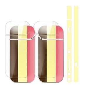 ガールズネオ IQOS スキンシール ラミネート加工有 全面セット (ストライプ/チョコストロベリーアイスクリーム) IQS02-COM-5009