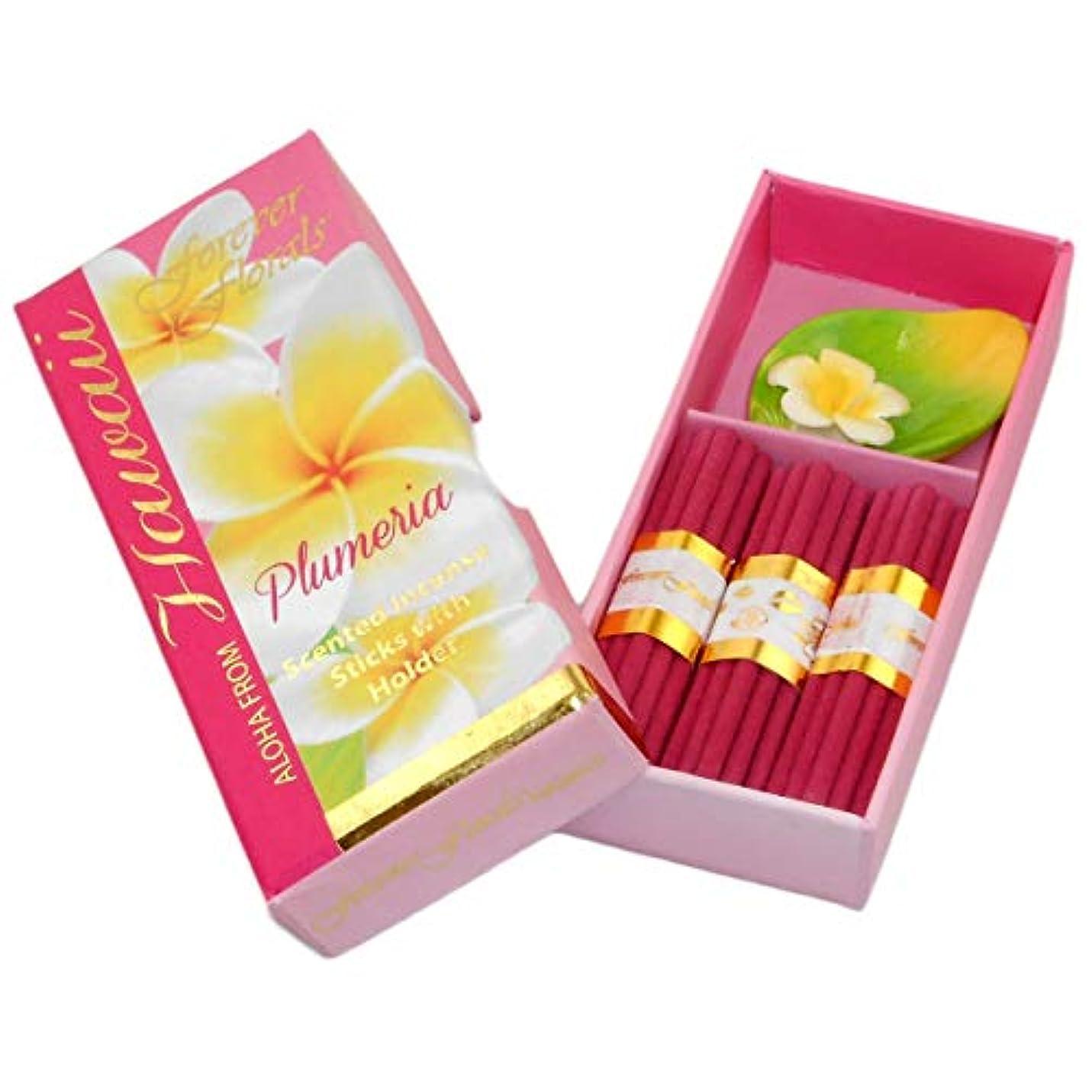 薄める熟達したアナログハワイアンForever Florals Incenseギフトボックスセットプルメリア 4 Sets