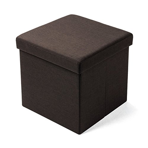 サンワダイレクト 収納スツール 折りたたみ 【耐荷重100kg】 座面取り外し 足置き 椅子 収納 ダークブラウン 150-SNCBOX6BK