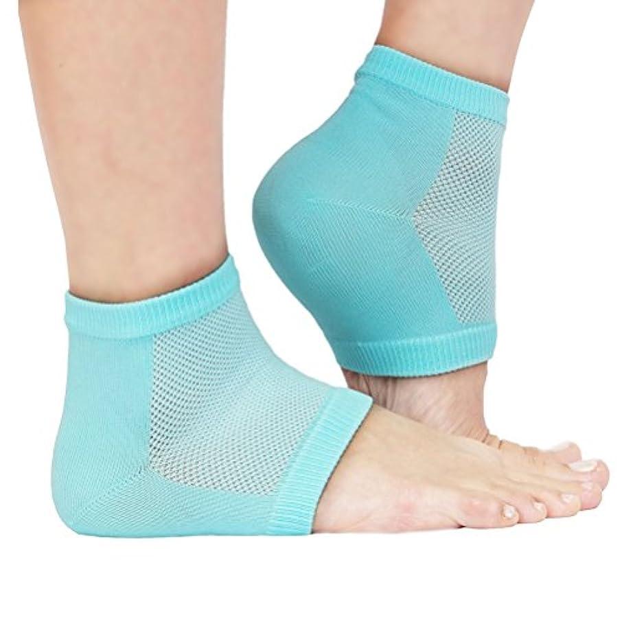 合計リングレット継承ROSENICE かかとソックス 保湿かかと靴下(ライト グリーン)