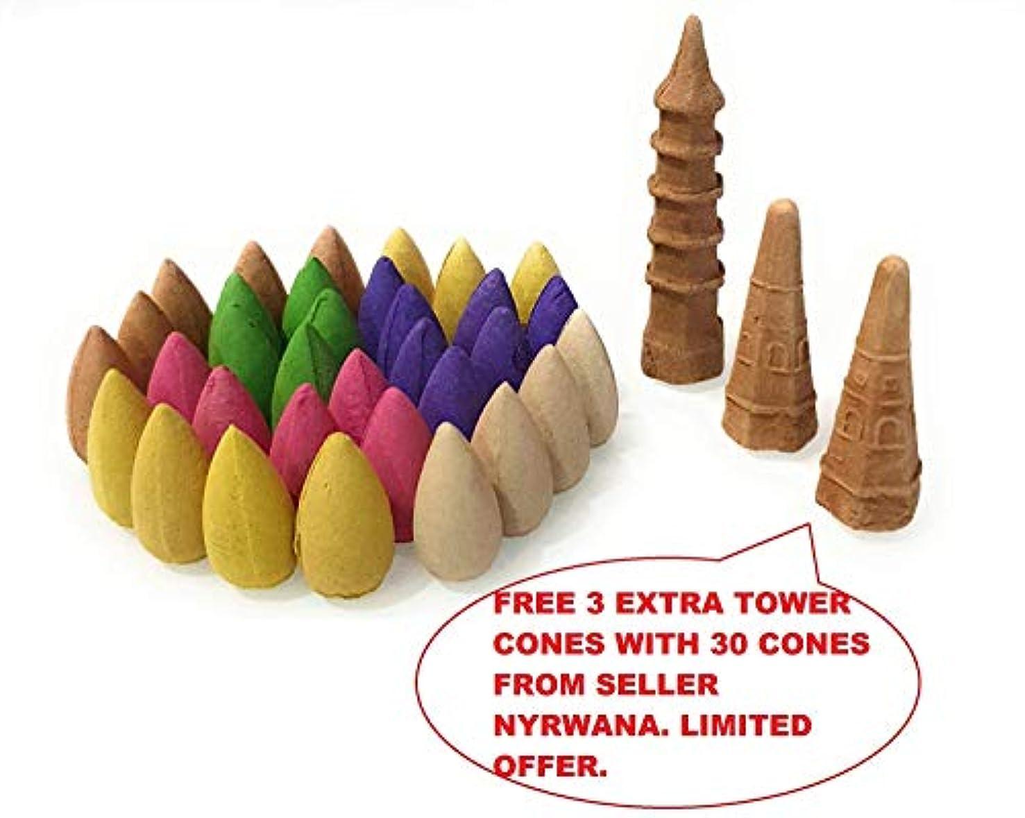 叱るキラウエア山ヘアNyrwana Backflow Incense Cones