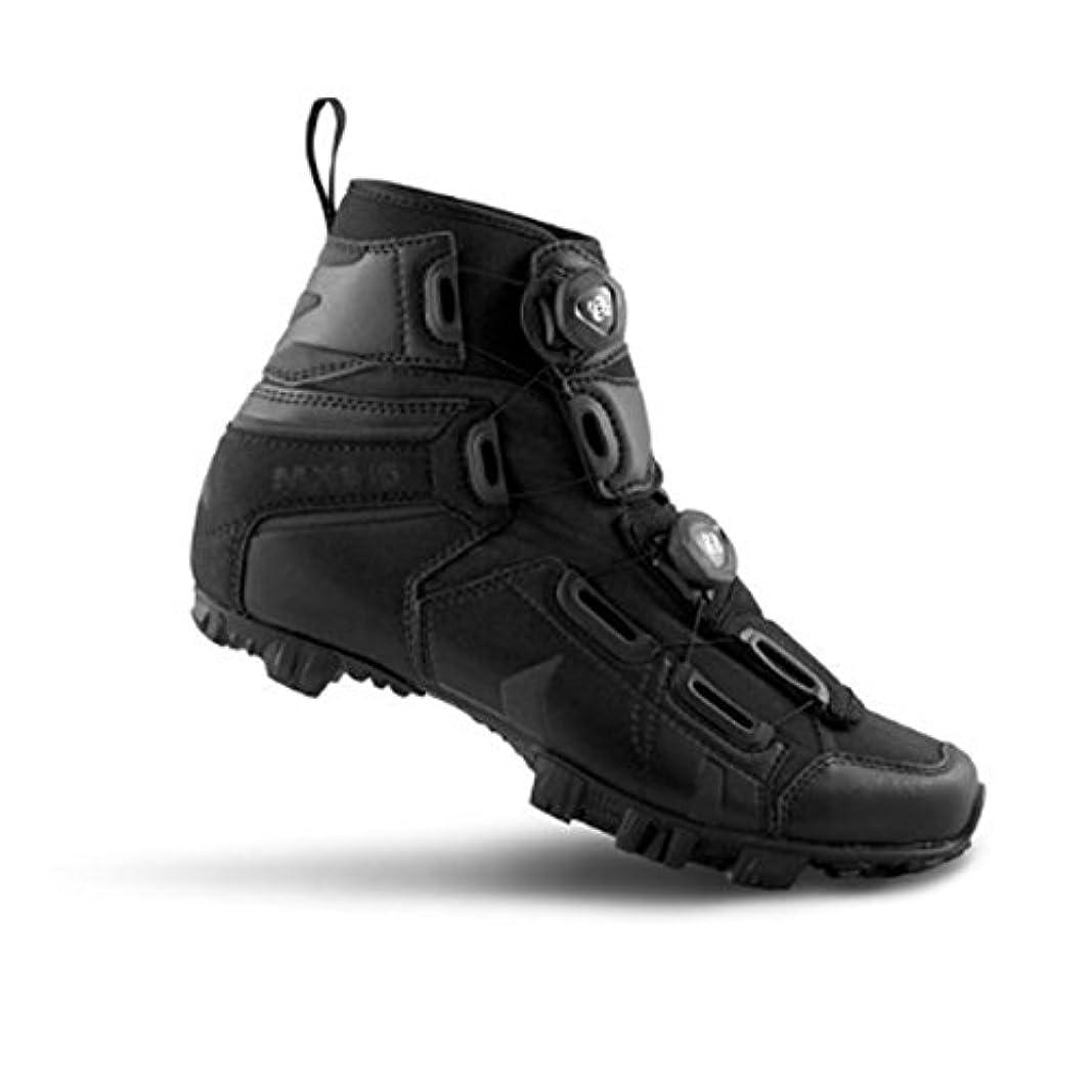 化粧印象派湖Cycling 2018メンズmx145-x Wide Mountainサイクル靴 – ブラック41