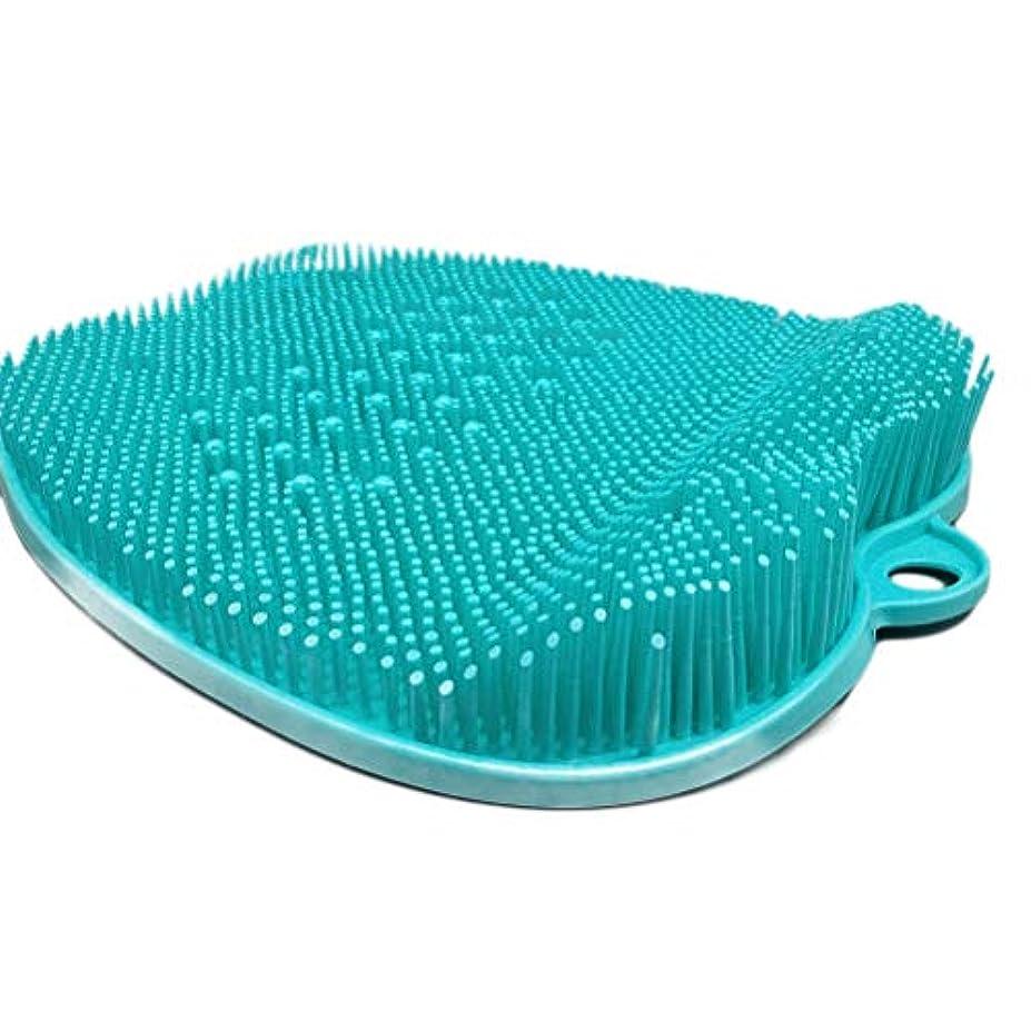 ティーム散髪公使館Creacom フットブラシ 足洗いマット バスマット フットケア フットブラシ 角質ケアブラシ お風呂で使える 滑り止め 汚れ角質除去 壁掛けフック付き 高齢者 妊婦用