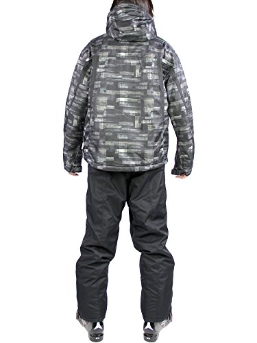 VAXPOT(バックスポット) スキーウェア 上下セット メンズ【耐水圧5000mm 透湿3000g 撥水加工】 VA-2016 PT-MON/BLK L(男性用L)