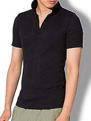 liberte riche(リベルテ リッシュ)ポロシャツ メンズ Tシャツ カットソー 半袖 無地 ゴルフウェア トップス カジュアル コーデ 黒 紺 白 春 夏 秋 メンズファッション