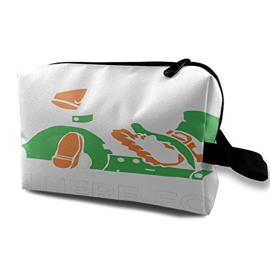 ベッド兵隊予測するSaint Patricks Day Irish Leprechaun 収納ポーチ 化粧ポーチ 大容量 軽量 耐久性 ハンドル付持ち運び便利。入れ 自宅?出張?旅行?アウトドア撮影などに対応。メンズ レディース トラベルグッズ