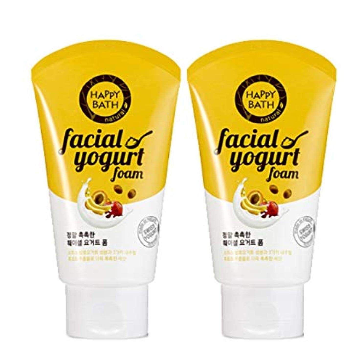 特異な消費する即席(1+1)ハッピーバスフェイシャルヨーグルトモイストフォームHAPPY BATH Facial Yogurt Moist Foam 韓国の人気商品 Korean Beauty Womens