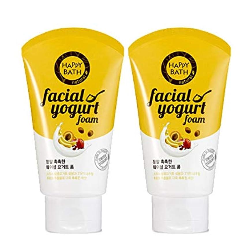 示す頭痛カトリック教徒(1+1)ハッピーバスフェイシャルヨーグルトモイストフォームHAPPY BATH Facial Yogurt Moist Foam 韓国の人気商品 Korean Beauty Womens