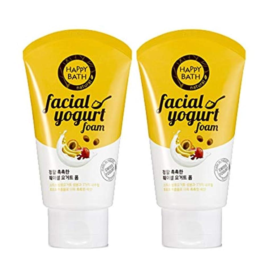 誘導加害者カバー(1+1)ハッピーバスフェイシャルヨーグルトモイストフォームHAPPY BATH Facial Yogurt Moist Foam 韓国の人気商品 Korean Beauty Womens