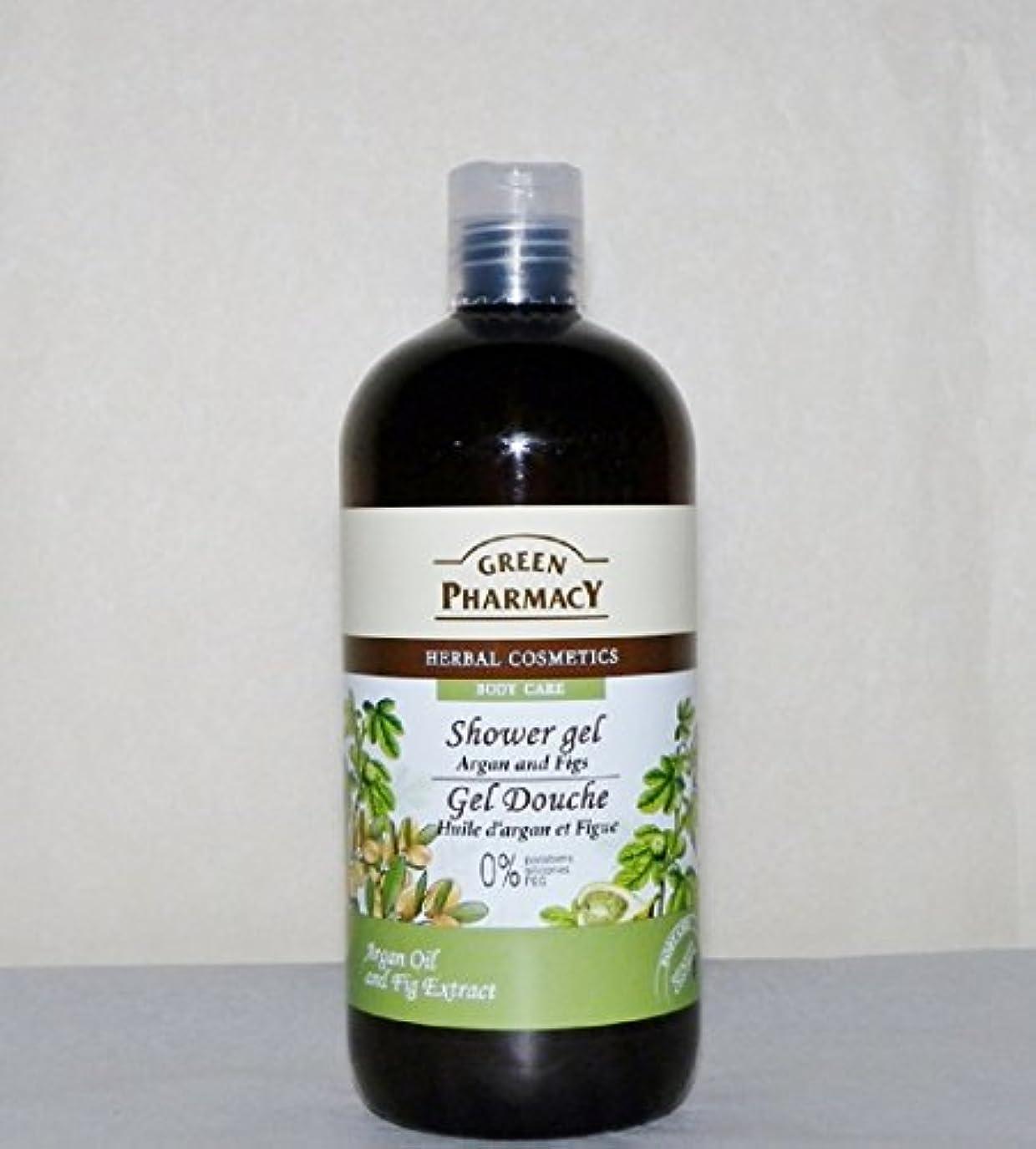 ベアリング簿記係パフElfa Pharm Green Pharmacy グリーンファーマシー Shower Gel シャワージェル Argan Oil&Figs