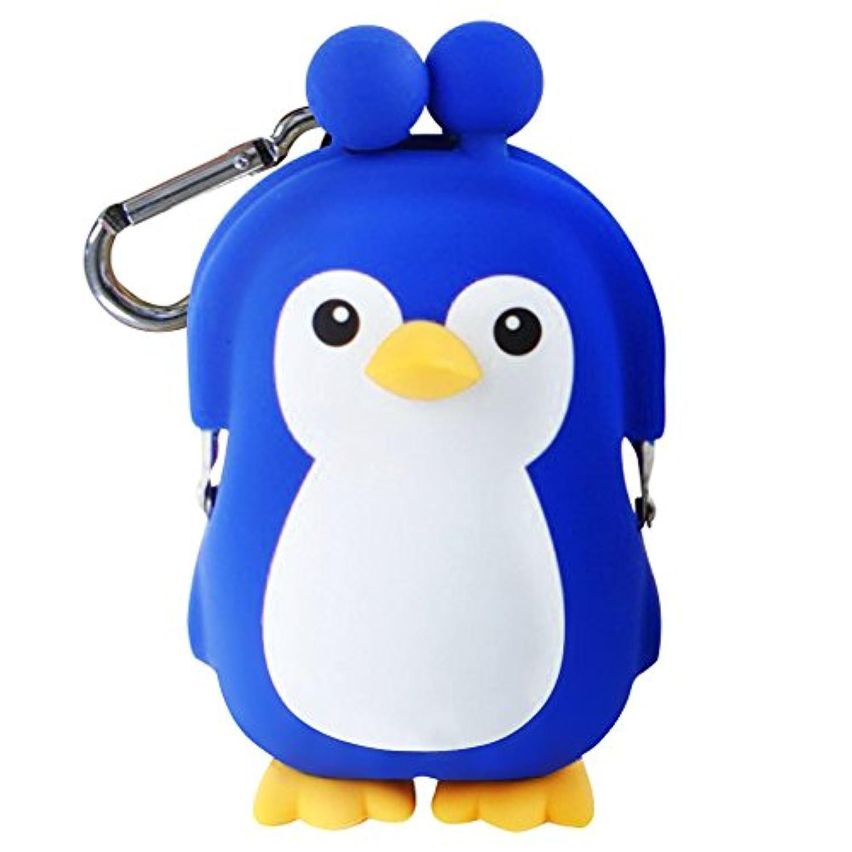 (ピージーデザイン) p+g design がまぐち ペンギン 3D POCHI FRIENDS PENGUIN-Navy【2492】