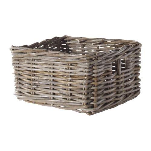 IKEA(イケア) BYHOLMA グレー 25x29x15 cm 80163696 バスケット、グレー