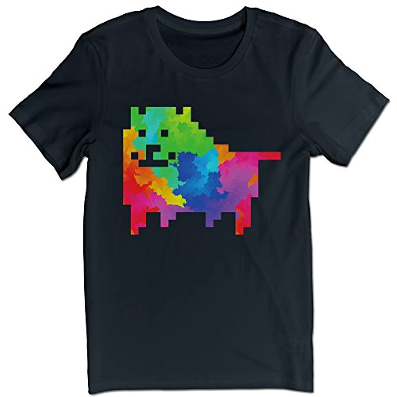 王朝発火するサラミヒカリ メンズ 半袖 ティー Tシャツ RPG Game ゲーム 犬