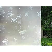 """easy2hang不透明ウィンドウフィルムwith Snowflake Pattern , No Glue and Static Electricity 30""""*80"""""""
