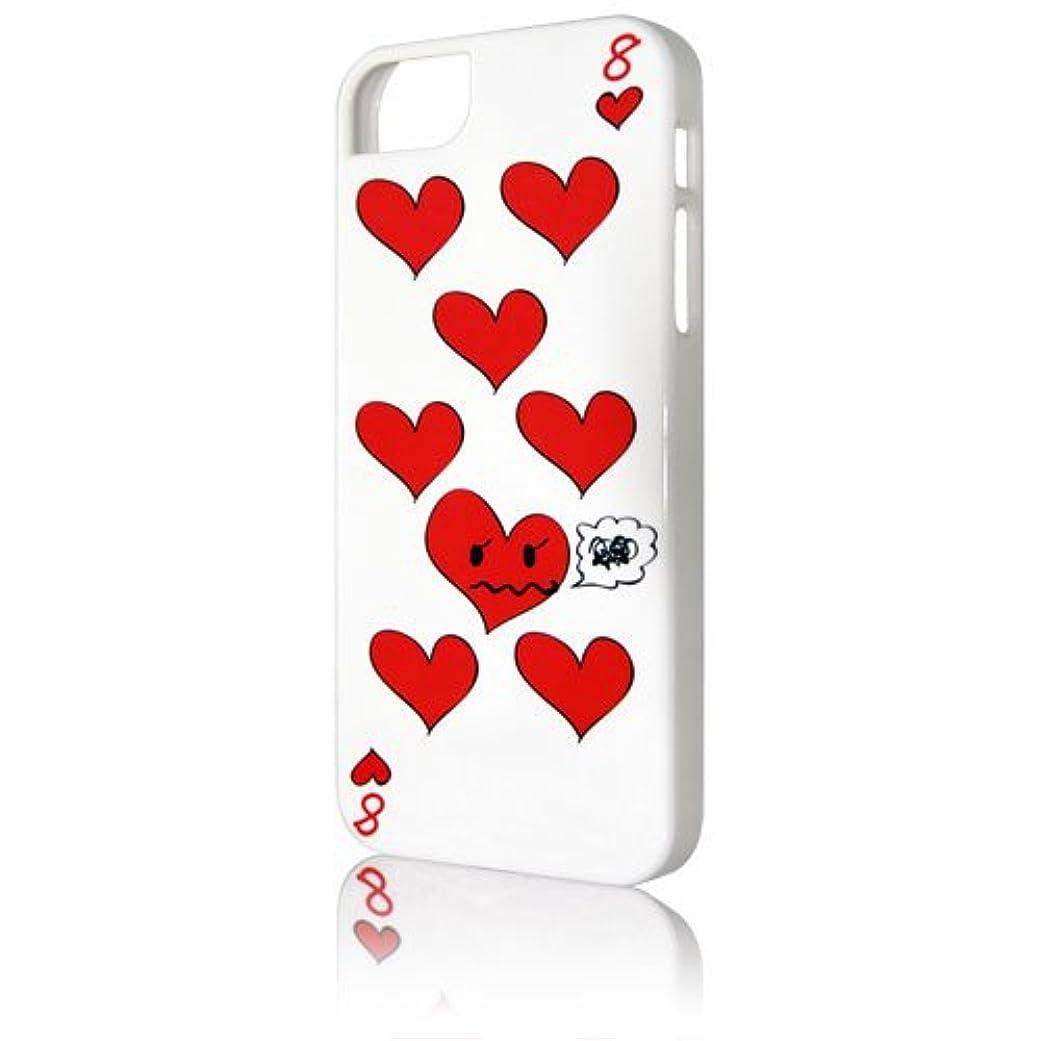暫定残る宙返りBrighton iPhone 5 UV Coating Case ハートホワイト BI-IPVHEART/WH