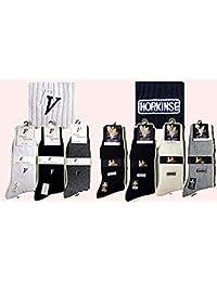 【靴下】【ソックス【ブランドメンズ靴下】! 【メンズソックス】《男性用靴下》フランコバレンチノ/ホーキンス (ホーキンス(黒))