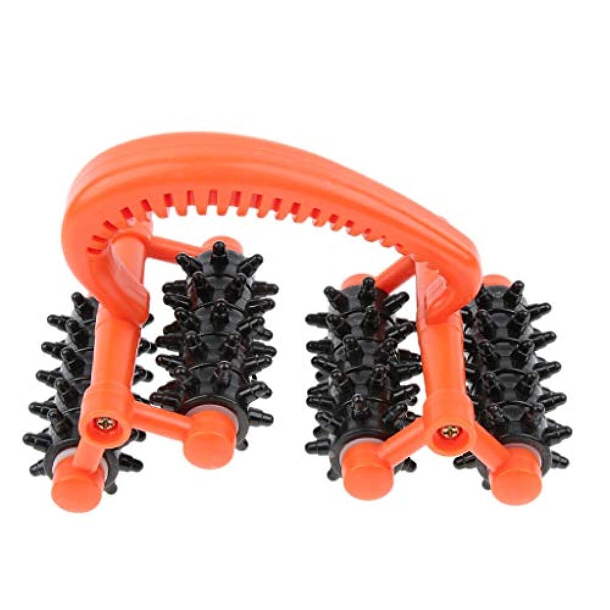 異議邪魔バッジマッサージローラー ハンドル 筋肉 痛み 痛み 即座に軽減 プラスチック 効果的 汎用