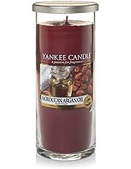 Yankee Candles Large Pillar Candle - Moroccan Argan Oil (Pack of 2) - ヤンキーキャンドル大きな柱キャンドル - モロッコアルガンオイル (x2) [並行輸入品]