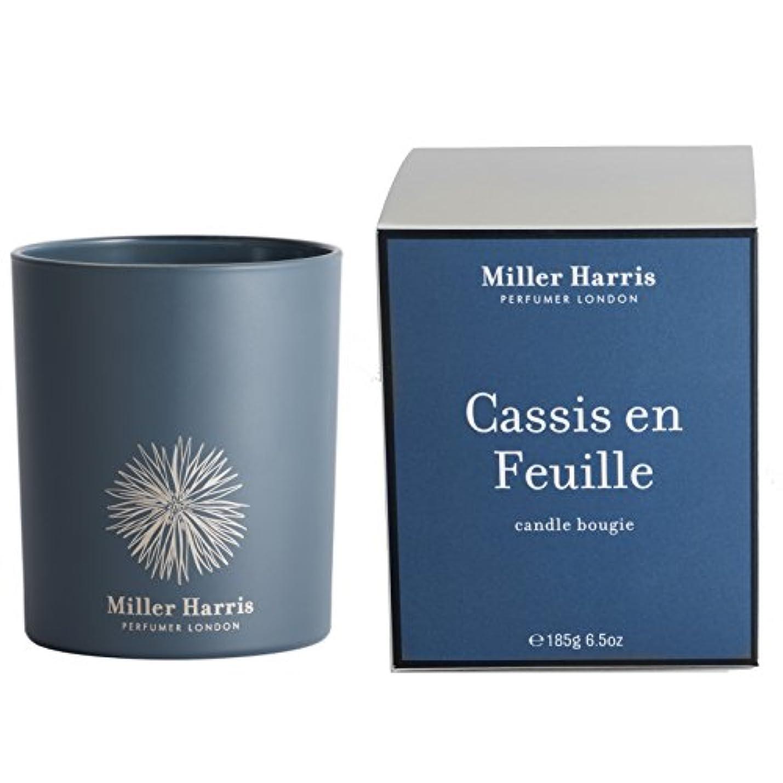 アルバニー夕食を食べる素朴なミラーハリス Candle - Cassis En Feuille 185g/6.5oz並行輸入品