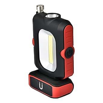 COB LED 作業灯 ワークライト 先端LED付 小型 マグネット クリップ付き ハンディライト 携帯便利 アンテナ付き