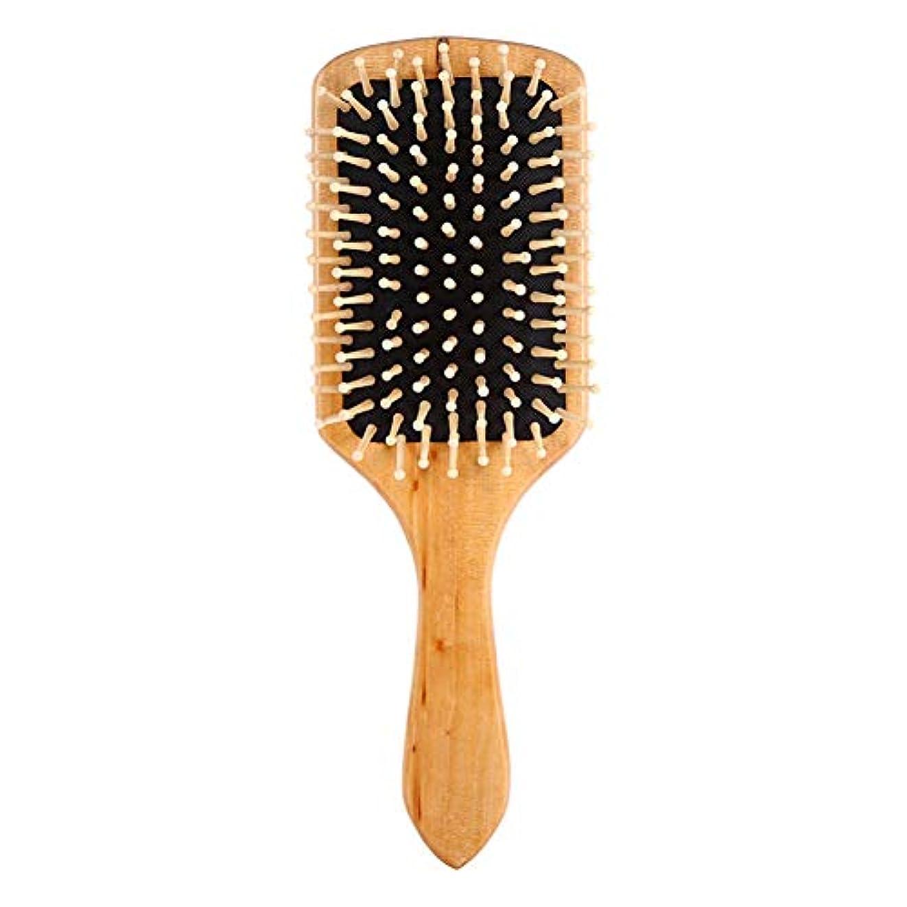 マーク麦芽厚いヘアケアコームマッサージ木製スパマッサージコーム帯電防止ヘアコームマッサージヘッドプロモーション血液循環エアバッグコーム用すべてのヘアスタイル,Black