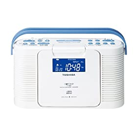 TOSHIBA 防水CDクロックラジオ CUTEBEAT ホワイト TY-CDB5(W)
