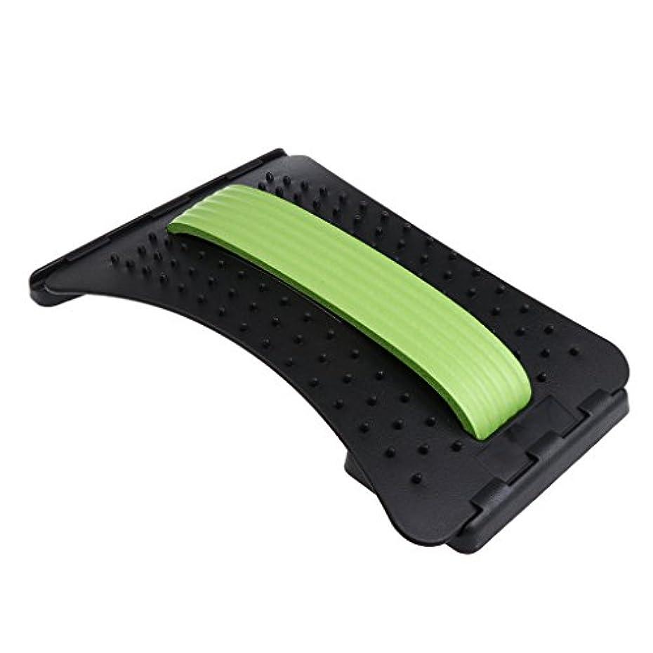 代表して常習者ハイキングPerfk バックストレッチャー マッサージャー サポート 高さ調整可 3色選べる - 緑